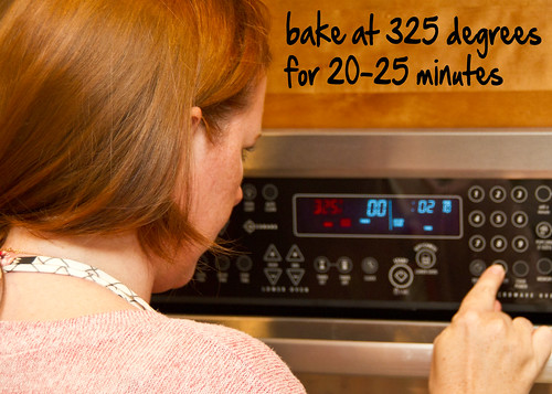 bake at 325 for 20-25 minutes