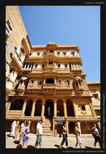 Tourists in Jaisalmer