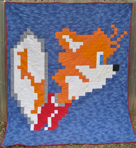 Tails Quilt, made for Gareth