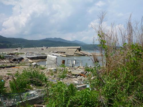 陸前高田市広田町, 陸前高田でボランティア Volunteer at Rikuzentakata, Iwate pref, Deeply Damaged Area by Japan Quake