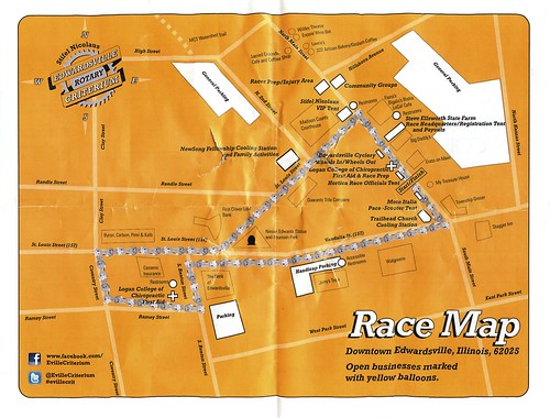 Edwardsville Crit course map