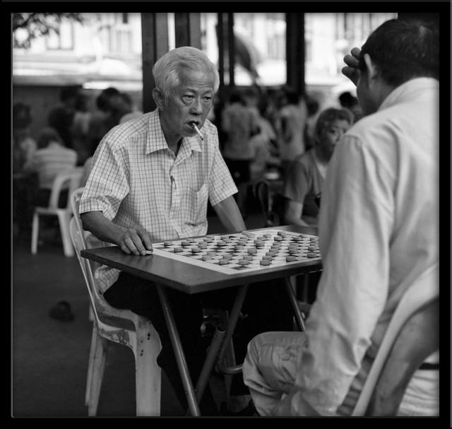 Chess players - chinatown - Singapore