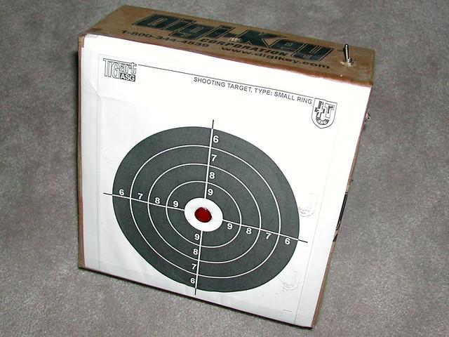 Toy Laser Gun target
