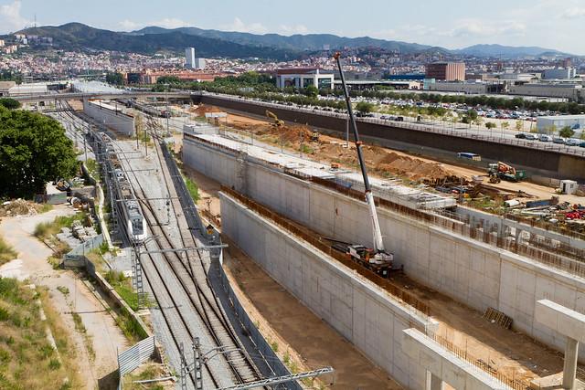 Zona de la estació de Sant Andreu - Norte - 28-07-11