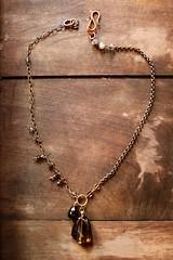 smoky quartz,brass,tourmaline & copper