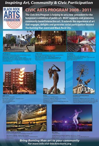 Buring Man Civic Arts Poster 2011 by davidyuweb
