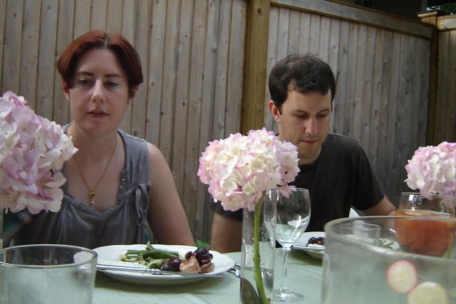 dinner in the back yard
