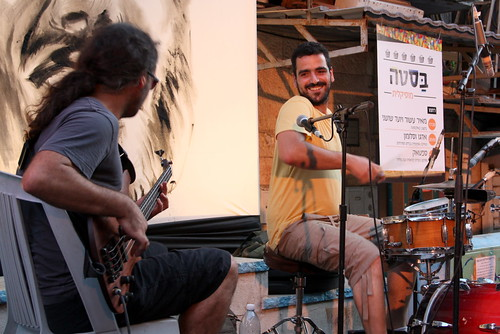 Meir Asor (drums) and Yo'ad Shoshani (bass)