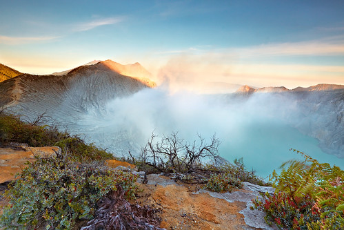 Enchanting beauty from the top of Ijen Crater
