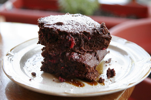 Raspberry, Lemon and Cardamom Cocoa Brownies