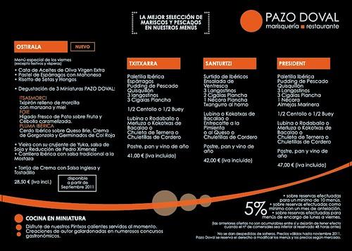 Oferta Gastronomica del Pazo Doval marisqueria by Pazo Doval Marisqueria