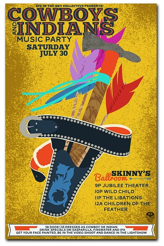 Gigposter for Cowboys & Indians Party