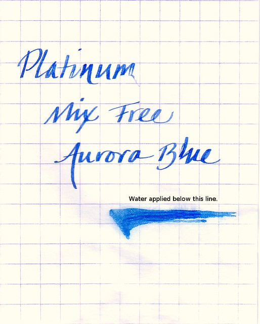 Platinum Mix Free Ink Aurora Blue Water Test