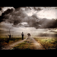 Farmer with Horse