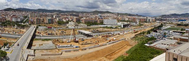 Panorámica zona de la futura estación de La Sagrera - Norte - 27-07-11