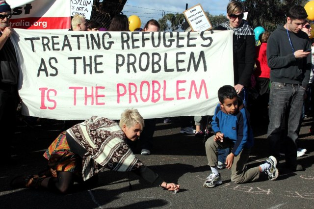 Treating Refugees as the problem is the by John Englart (Takver), on Flickr