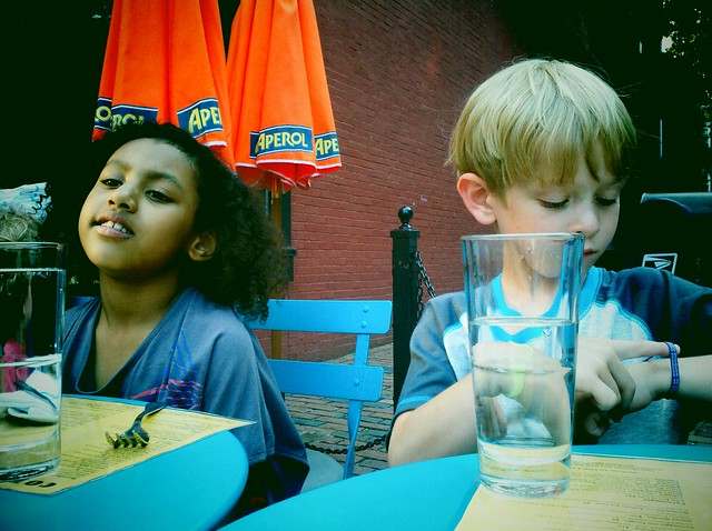 Sophie and Max, out to dinner