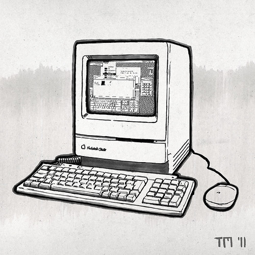 Sketch of a Apple Macintosh Classic