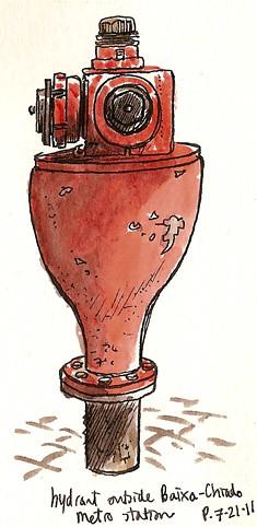 lisbon hydrant, chiado