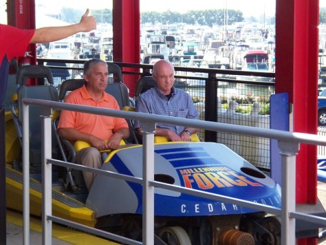 Cedar Point - Matt Ouimet and John Hildebrandt on Millennium Force