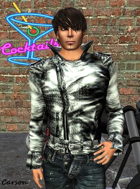 GizzA Crocodile Biker Jacket