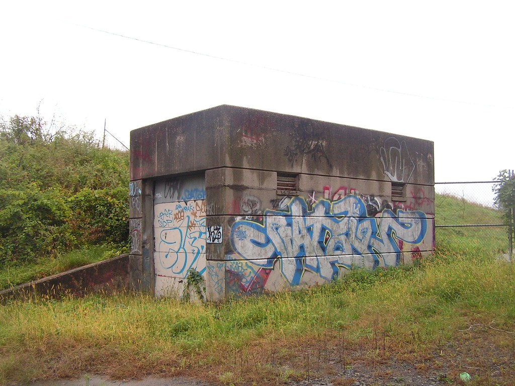 Well-graffitied structure