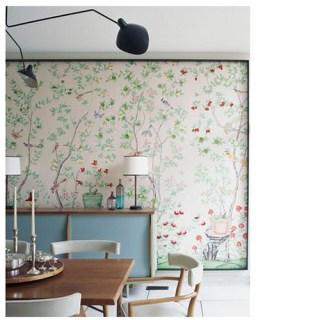 Domino dining room wallpaper Laura Resen