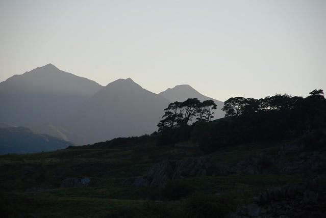 Sundown in Eryri / Snowdonia - with Yr Wyddfa / Mt Snowdon