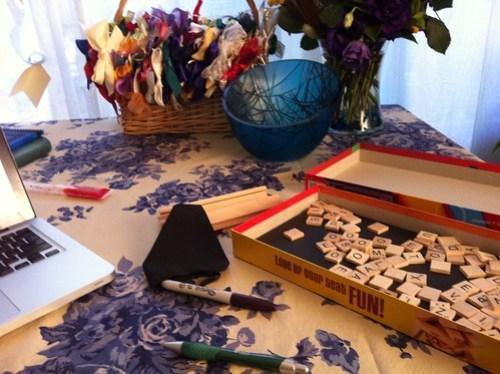 DIY Arabic scrabble set