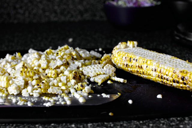 semi-charred corn