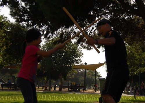 Practicing wtih Master Jon Escudero