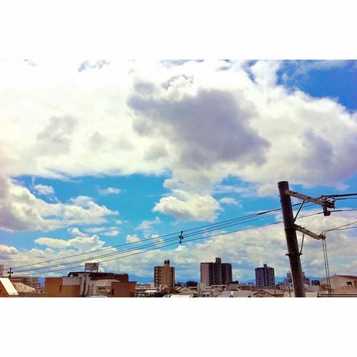 おっきな雲だおー!(^O^☆♪ #iphonography #instagram