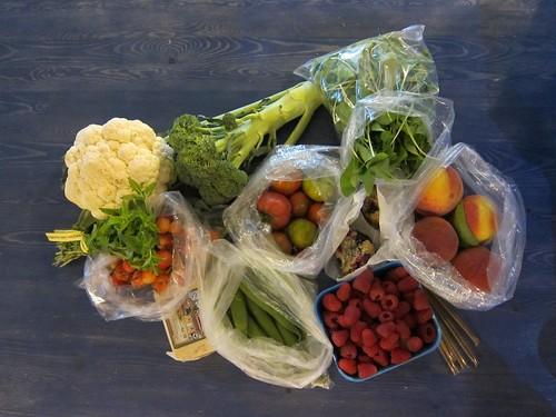 July 23rd Farmer's Market Haul
