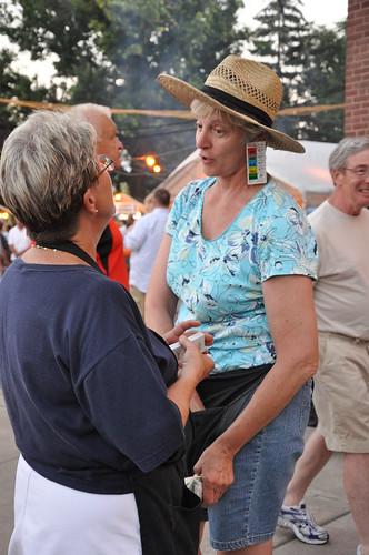 Volunteer with Instant Bingo earrings