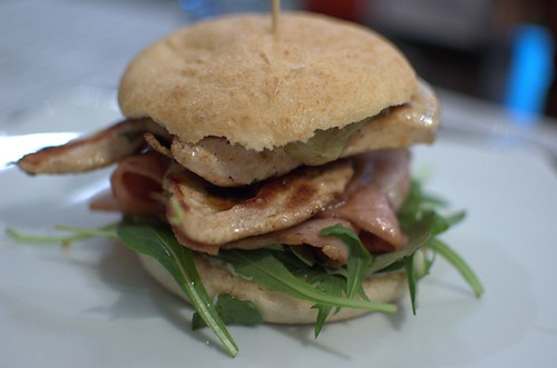 Chicken, avocado & bacon burger