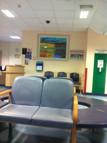 Addenbrooke's A&E waiting area