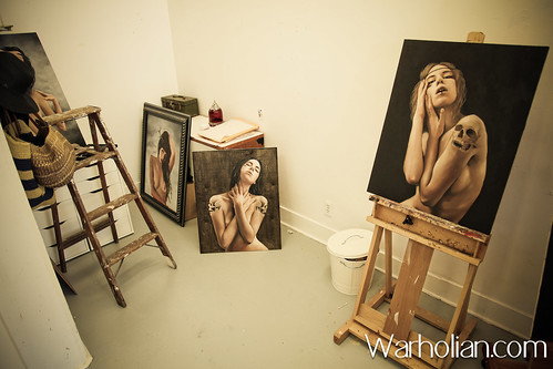 Charmaine Olivia studio visit and artist interview with Aimee Dewing for Warholian - Photos by Michael Cuffe