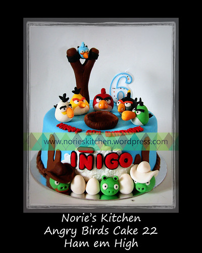 Norie's Kitchen - Angry Birds Cake 22 - Ham em High by Norie's Kitchen