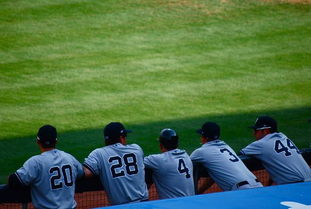 baseball: yankees @ bulls