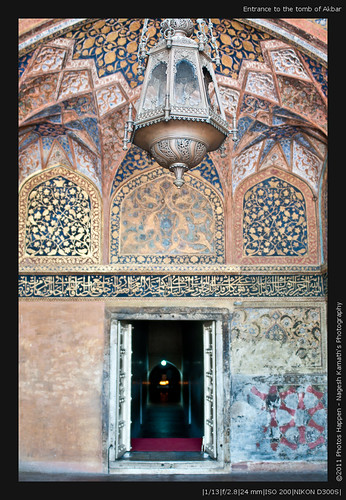 Entrance to the tomb of Akbar