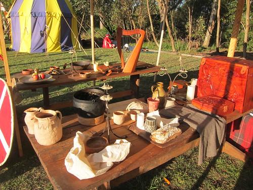 Huscarls' display tables