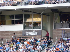New York Mets radio team Wayne Hagen and Howie...