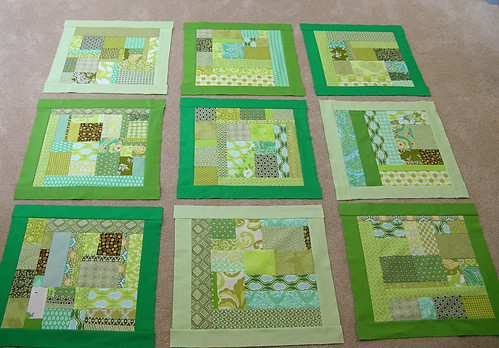 Scrappy green squares