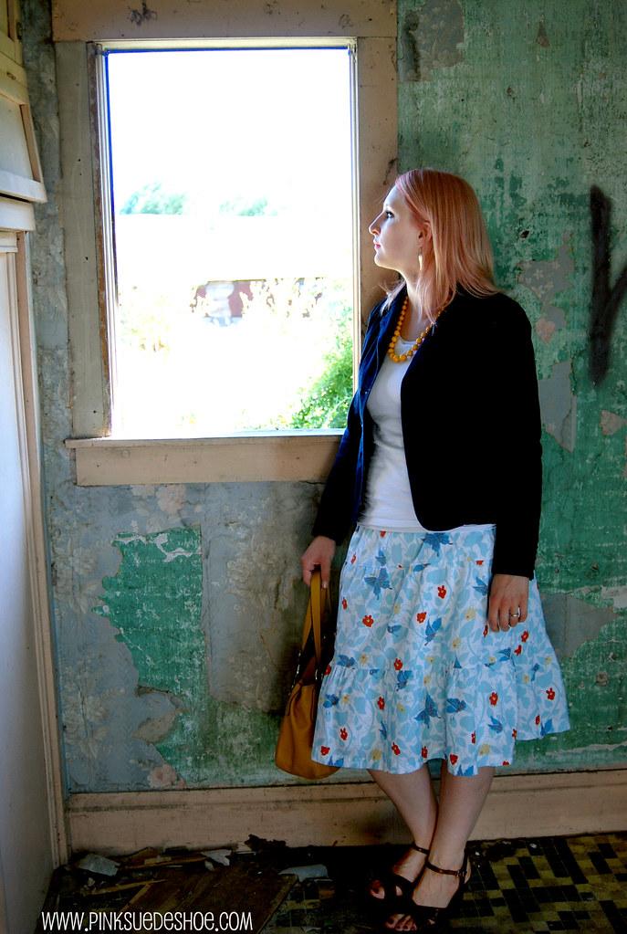 skirt at window