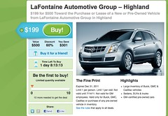 No Takers Yet Groupon Auto Sale
