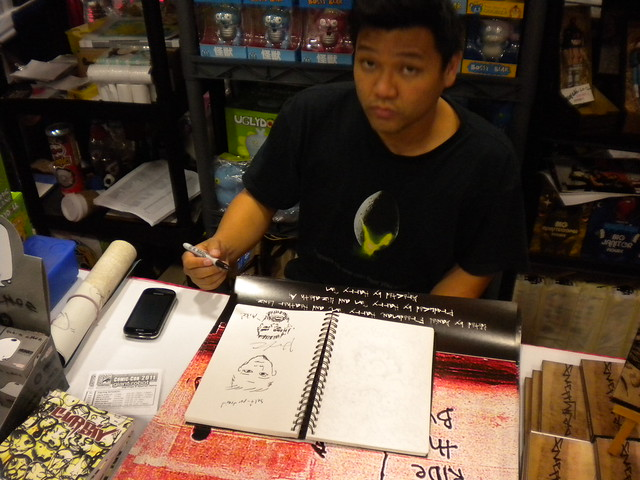 Harry Kim in the sketchbook