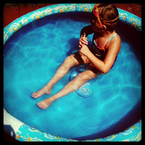 She used to fit so differently in this pool.