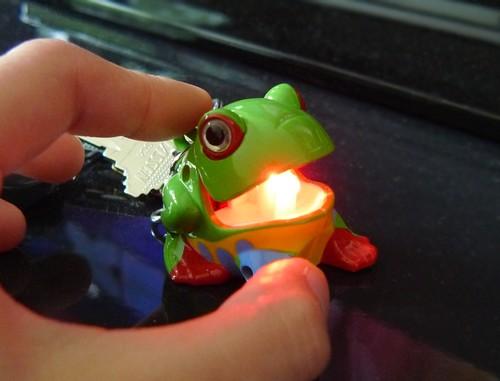 frog keychain (lit up)