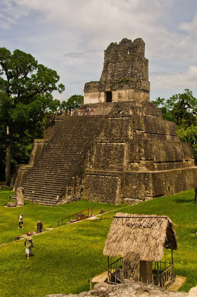 Temple II and the Great Plaza, Tikal