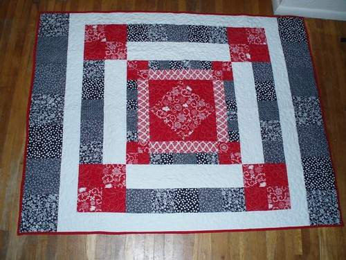 Red & Black Quilt by Van Os